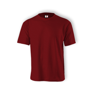 Round Neck T-shirt 100% Cotton: Maroon
