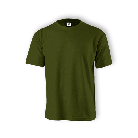 Round Neck T-shirt 100% Cotton: Olive