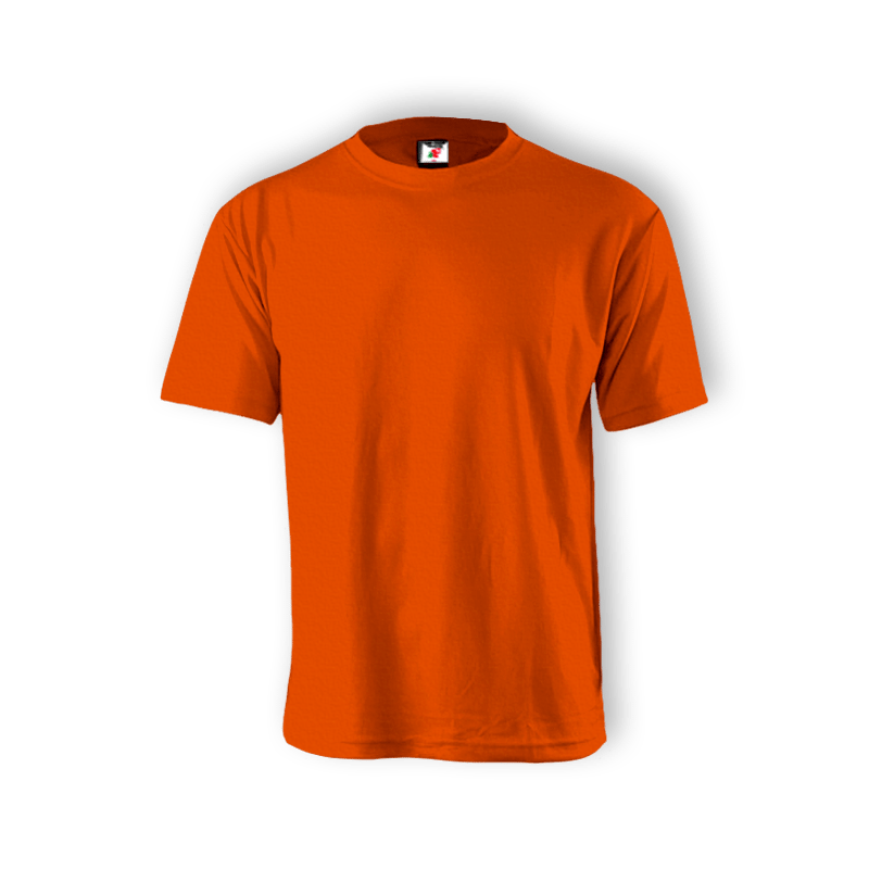 Round Neck T-shirt 100% Cotton: Orange