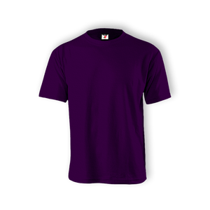 Round Neck T-shirt 100% Cotton: Purple
