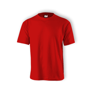 Round Neck T-shirt 100% Cotton: Red