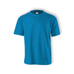 Round Neck T-shirt 100% Cotton: Blue Turquoise