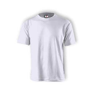 Round Neck T-shirt 100% Cotton: White