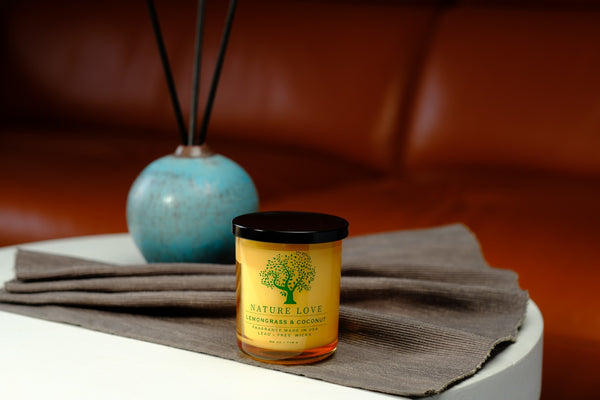 Single Wick Lemongrass & Coconut Candles