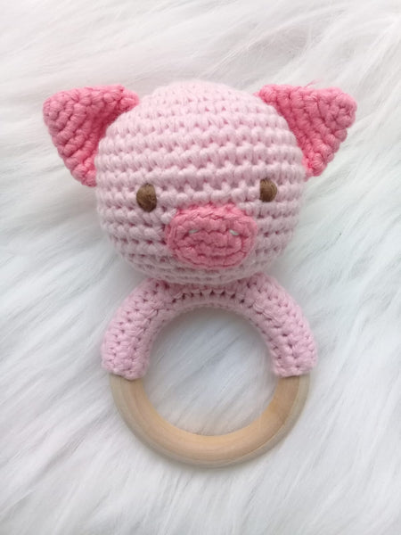 Baby Rattle - Pig 8016