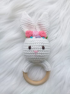 Baby Rattle - Bunny White 8001