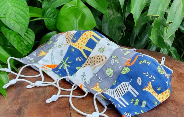 Animal Design Cotton Reusable Mask for Kids and Adult