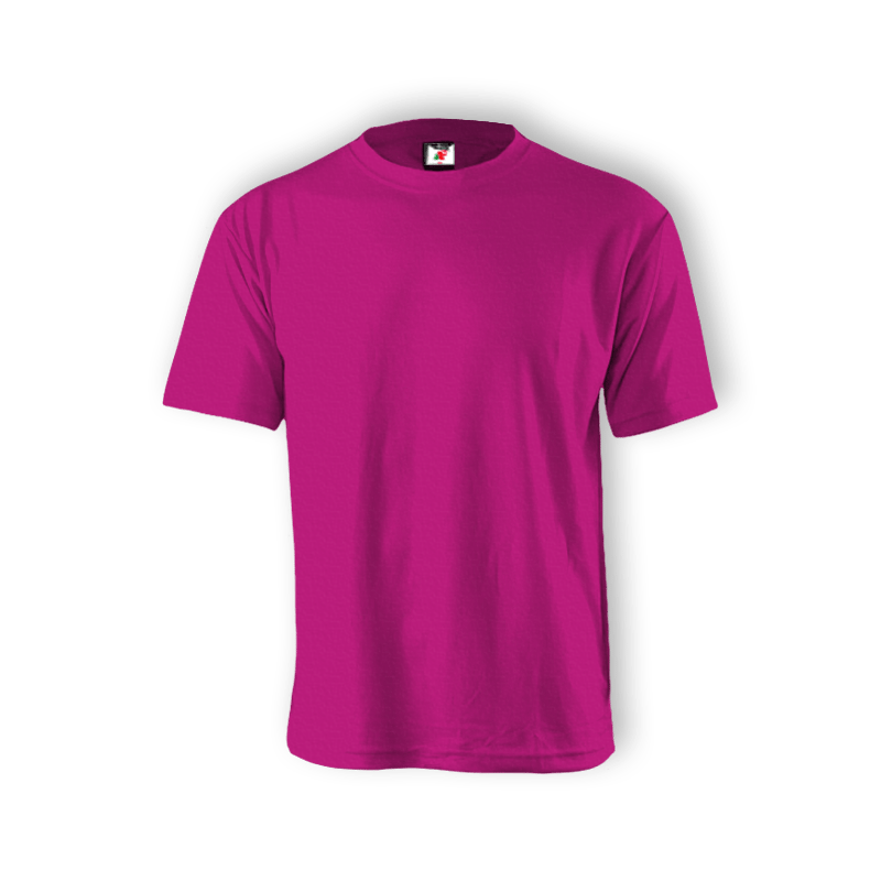 Round Neck T-shirt 100% Cotton: Magenta