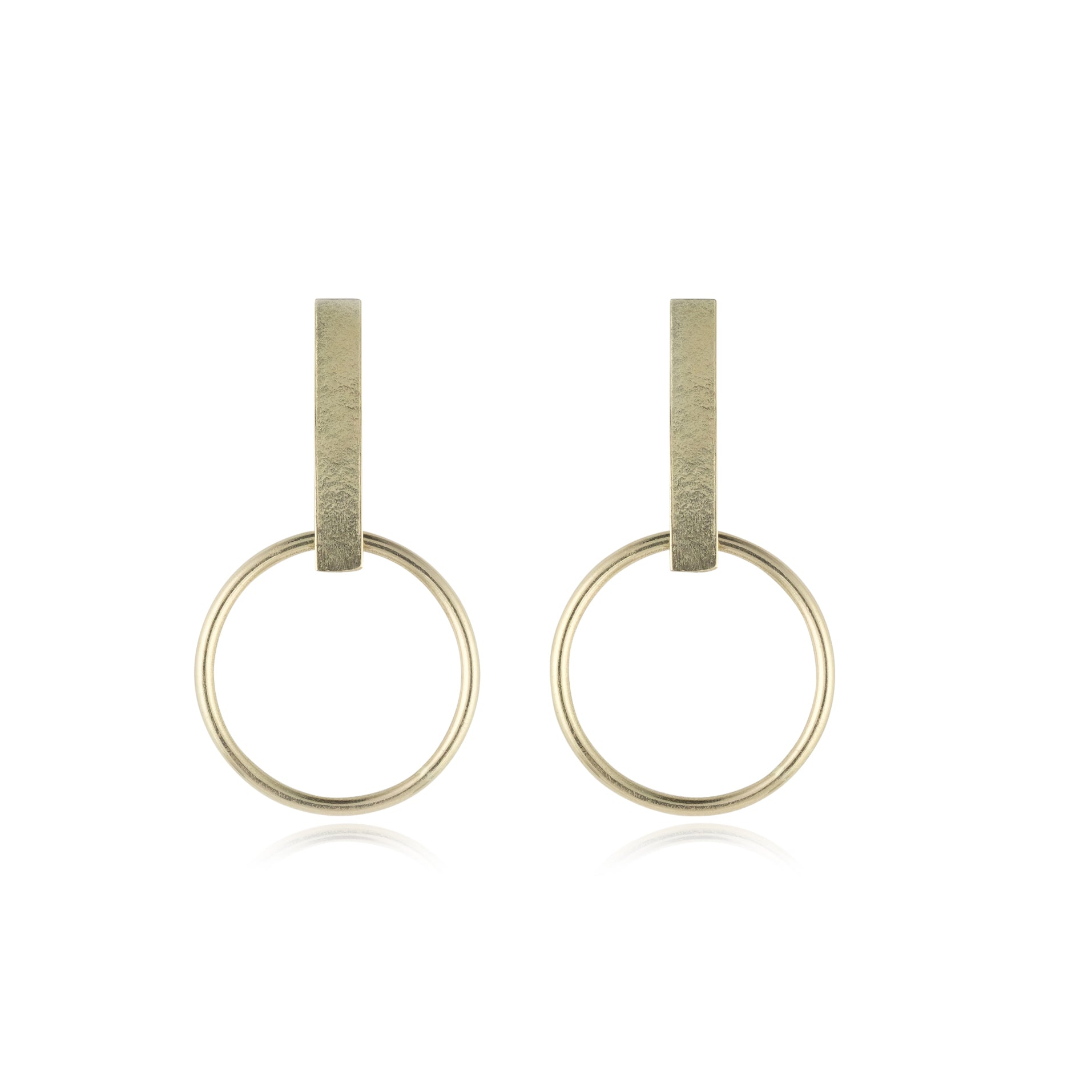 Bar studs with dangling circles
