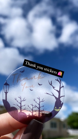 Thank You Halloween Stickers