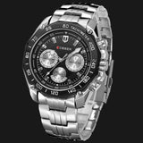 YSYH 8077 Full Stainless Steel Band Watches For Men Fashion Army Military Quartz Mens Watch Sport Wristwatch Male Clock Reloje