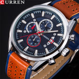 YSYH Brand Luxury Casual Military Quartz Sports Wristwatch Genuine Leather Strap Male Clock Chronograph Date Men Watches