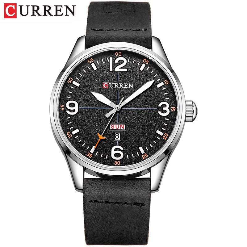 YSYH Brand Luxury Casual Military Quartz Watch Men Wristwatch Leather Strap Calendar erkek kol saati