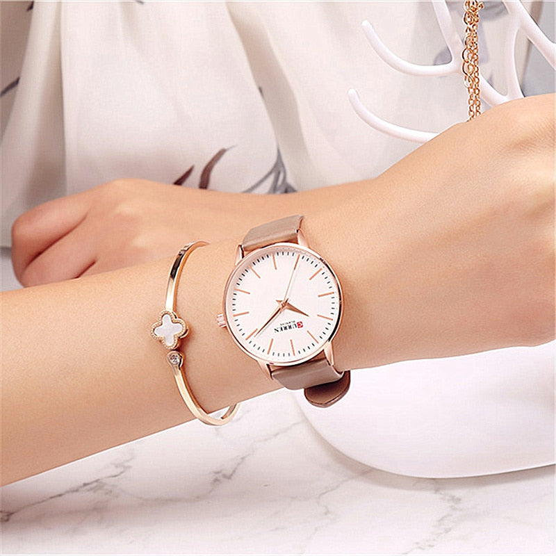 YSYH Fashion Simple Womens Watches Dress Quartz Leather Wristwatch For Ladies Life Waterproof Clock Female bayan kol saati