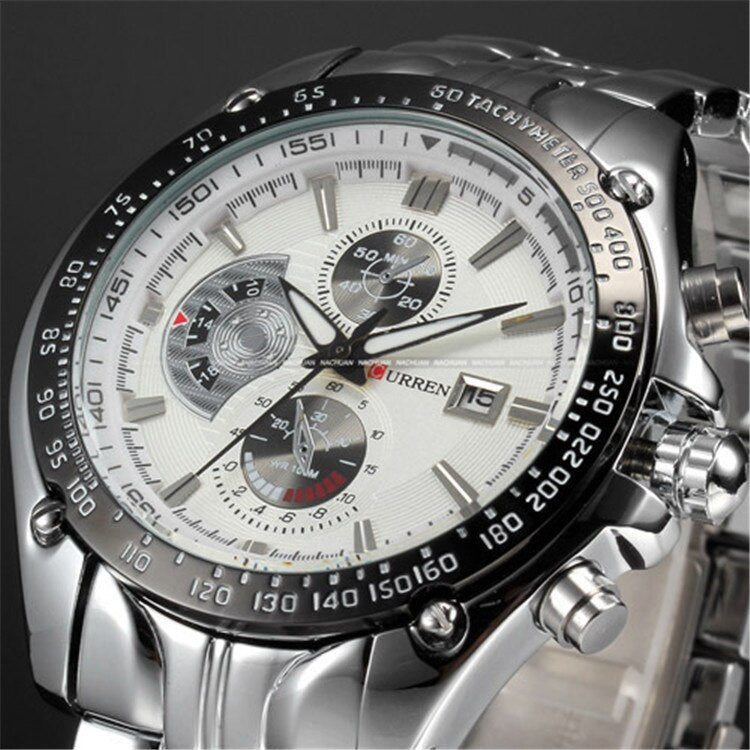 YSYH Full Stainless Steel Quartz Watches Mens Sport Wristwatch Waterproof Male Clock   erkek saat Gifts