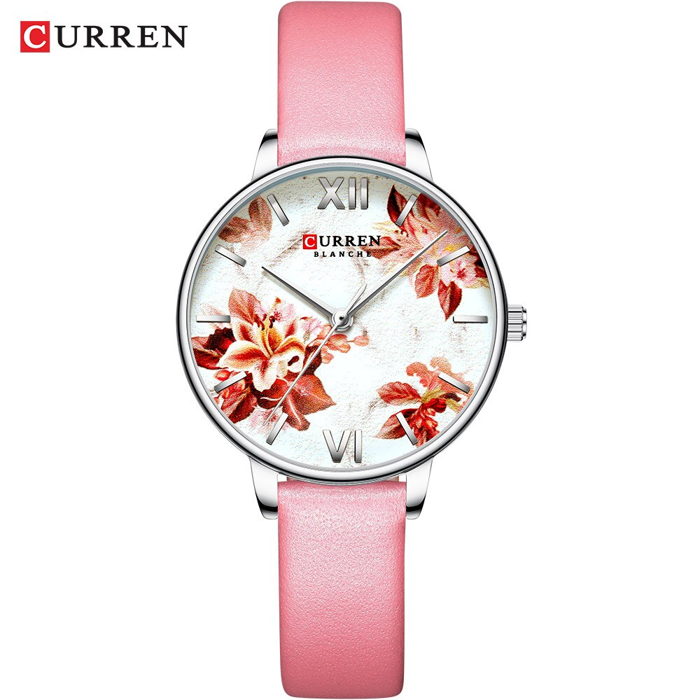 YSYH Leather Strap Watches Women's Quartz Watch Beautiful Pink Wristwatches Ladies Clock Female Fashion Design Charming Watch