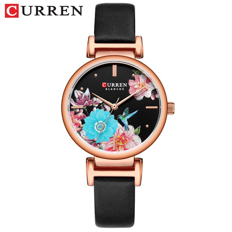 YSYH Leather Women Watch  Summer Quartz Ladies Wristwatch Relojes Female Clock Fashion Flower Dial Reloj Mujer
