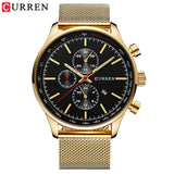 YSYH  Brand Luxury  Casual Sports Men Watches Stainless Steel Wristwatch Date Male Clock