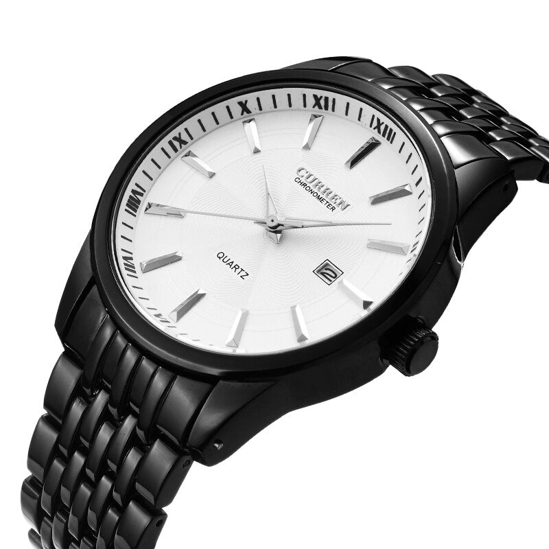 YSYH New Watches Fashion Simple style Calendar Casual Business Men Wristwatch Full Steel Quartz Male Clock Waterproof Watch