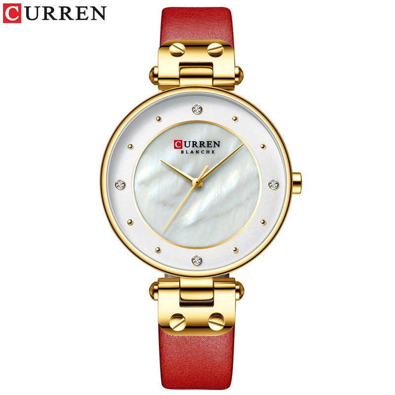YSYH Simple Rhinestones Charming Watch for Ladies Quartz Watches Leather Strap Clock Female Wristwatch Dress Women's Watch