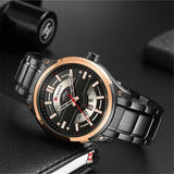 YSYH Watches Mens Stainless Steel Quartz Wristwatch With Calendar Casual Male Clock 30M Waterproof