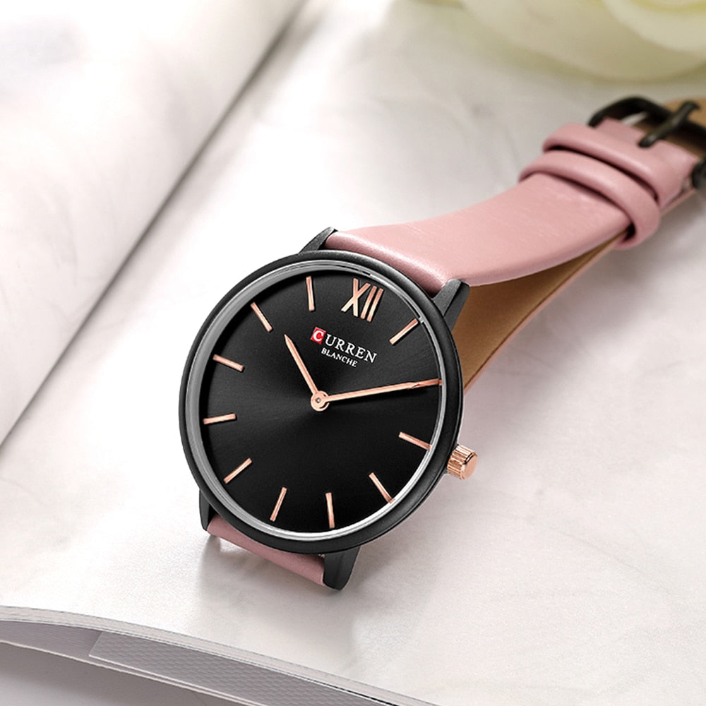 YSYH Women Watches Pink Analog Quartz Clock Female Casual Ladies Wrist Watch Soft Leather Strap Watch relogios feminino