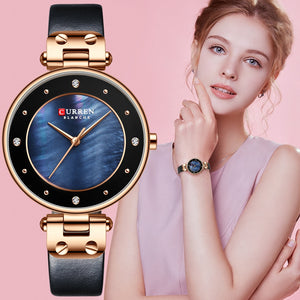 YSYH Women Watches Reloj Mujer Luxury Leather Strap Wristwatch for Women Blue Clock Stylish Quartz Ladies Watch