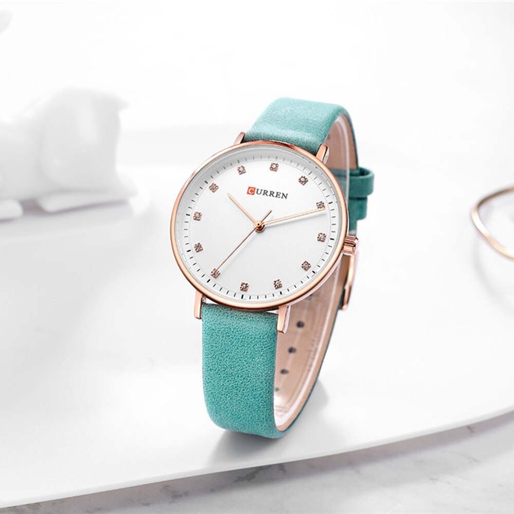 YSYH Womens Watches Charming Rhinestone Analog Quartz Wristwatch with Leather Ladies Gift Watch Female Clock bayan kol saati