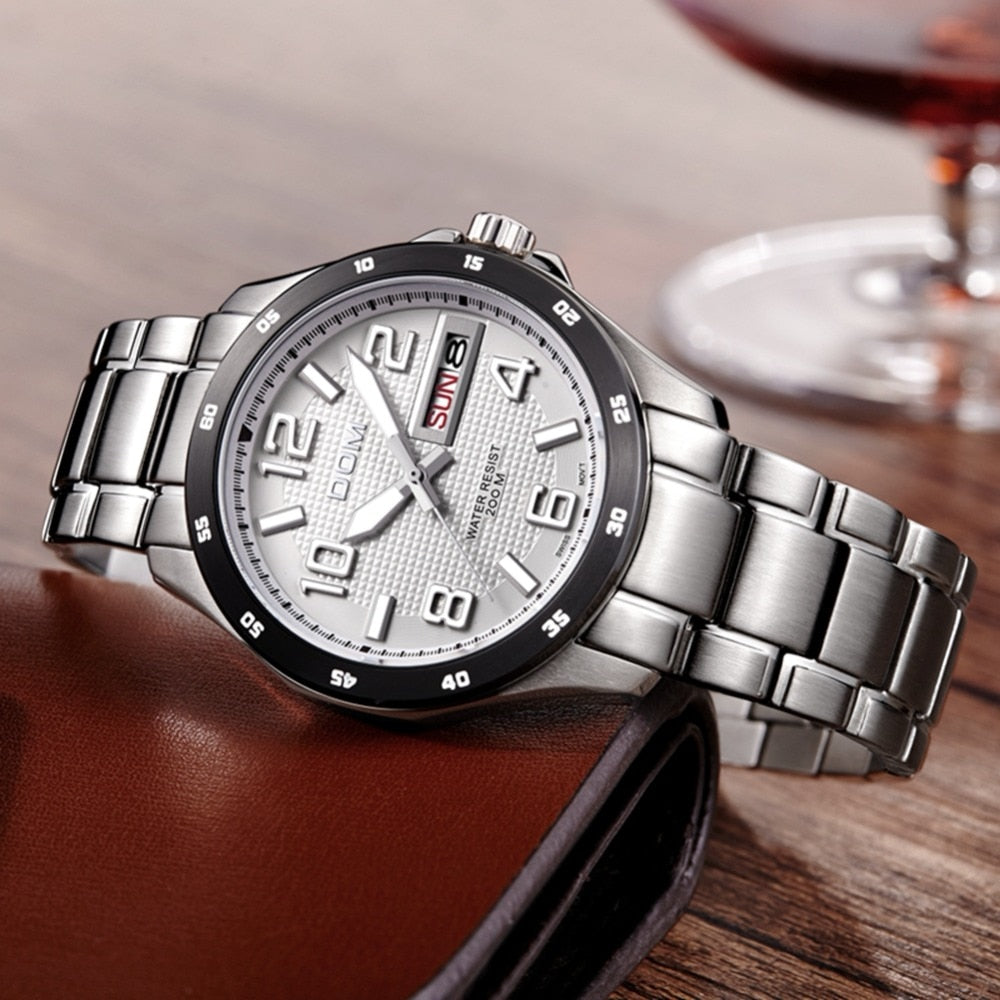 YSYH Men's Casual Quartz Wristwatch Waterproof Reloj Hombre Sport Relogio Masculino