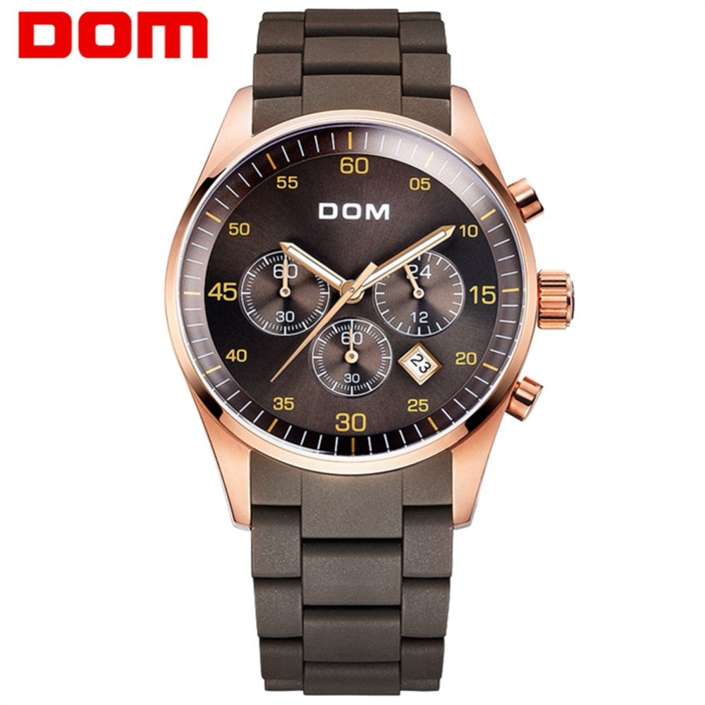 YSYH Men's Watch Calendar Week Show Waterproof Luminous Quartz Watch Men High Quality Movement Clock Gold