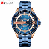 YSYH Gold Watches for Men Watch Business Men's Clock Fashion Quartz Stainless Steel Wrist watches Waterproof