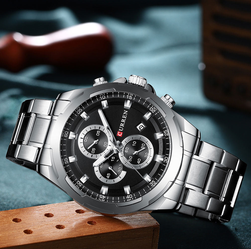 YSYH Watches Men Sport Wristwatch Fashion Business Analog Quartz Watch Male Clock Chronograph Stainless steel  Watch