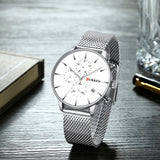 YSYH Men Luxury Quartz Military Watch  Stainless Steel Band Wrist Watches Clock Date  Dropshipping