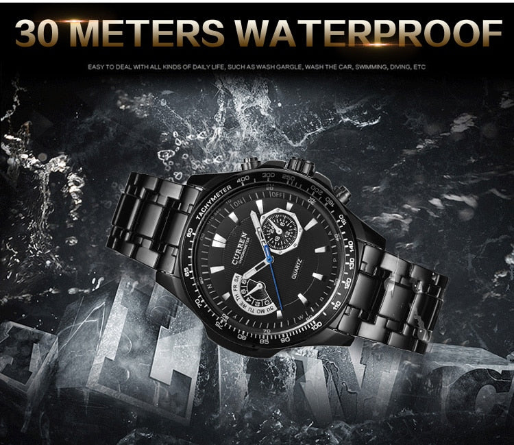 Men's Watches YSYH  Quartz Watch Men Sport Full Steel Waterproof Wristwatch Male Clock