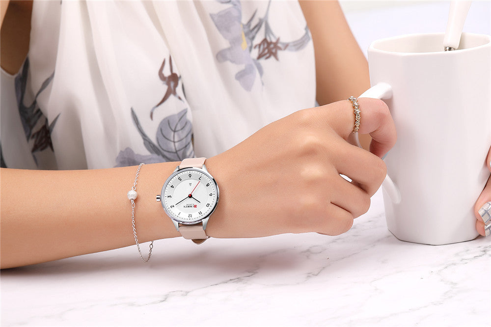 YSYH Charm Leather Watches Women Classic Digital Analog Quartz Wristwtatch Ladies Dress Watch With Date 9035 Relogio Feminino