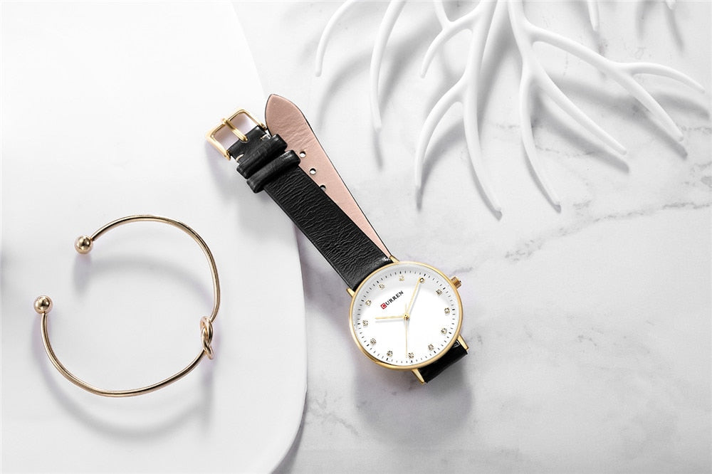 YSYH Simple Fashion Diamond Quartz Watches Womens Elegant Ladies Wrist Watch Female Clock Leather Watch For Women Reloj Mujer