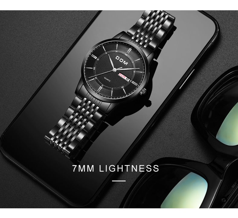 YSYH Men's Watches Ultra-thin Business Casual Leather Wrist Watch Calendar Display Waterproof  Multi-function Quartz Clock