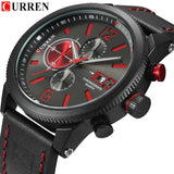 Watch Brand  Leather Quartz Wristwatch For Man  YSYH  Men's Water Resistant