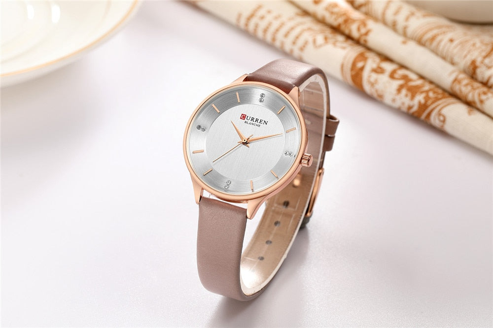 YSYH Brand Diamond Women's Watch Simple Slim Quartz Leather Wristwatch For Women Fashion Dress Ladies Clock Montre femme