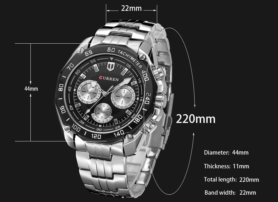 Fashion Full Stainless Steel Watches For Men YSYH Casual Quartz Mens Wrist Watch Waterproof Male Clock Gentleman Relojes Gift