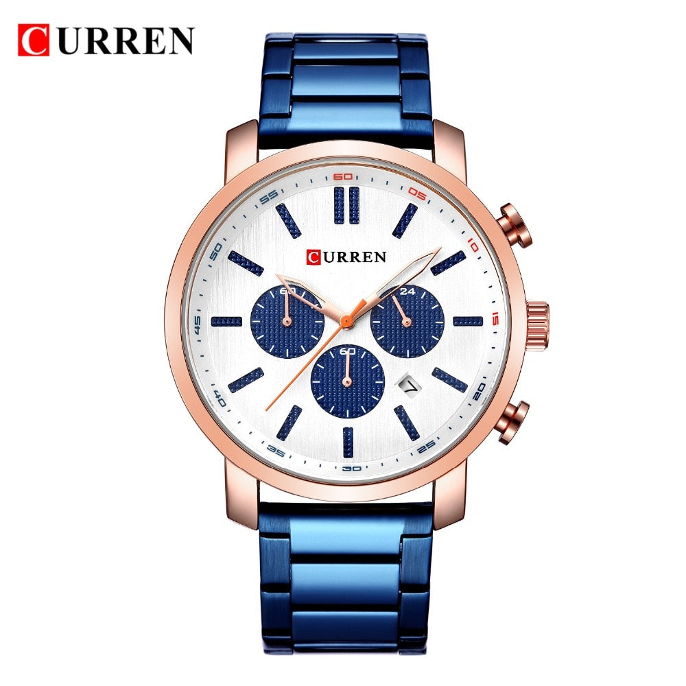 Luxury Brand Military Sport  YSYH Stainless Steel Wristwatch For Man Chronograph Watch Date Male Clock