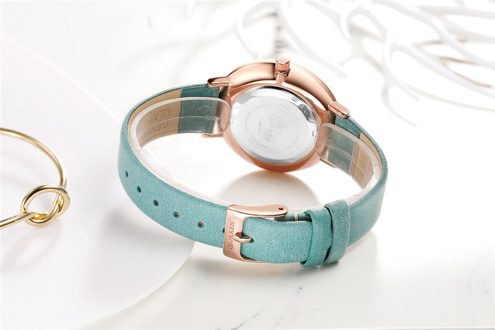 YSYH Fashion Leather Ladies Watches Analog Quartz Female Clock Luxury Women Rhinestone Watches Valentine Gifts