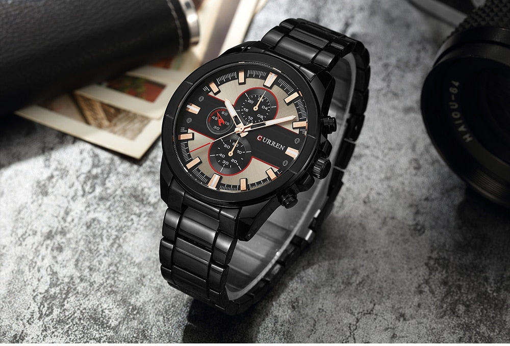 YSYH Luxury Casual Men Watches Military Quartz Male Wristwatch Stainless Steel Waterproof   Montre Homme
