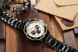 Mens Watches  Luxury  Quartz Stainless Steel Wristwatch YSYH Chronograph and Date
