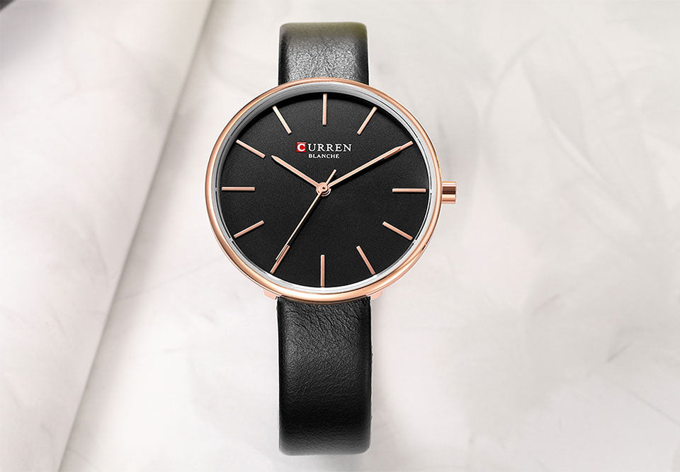 YSYH Simple Leather Analog Quartz Women's Watch Montre Femme Clock Dress Ladies Wrist Watches Female Fashion Casual Clock