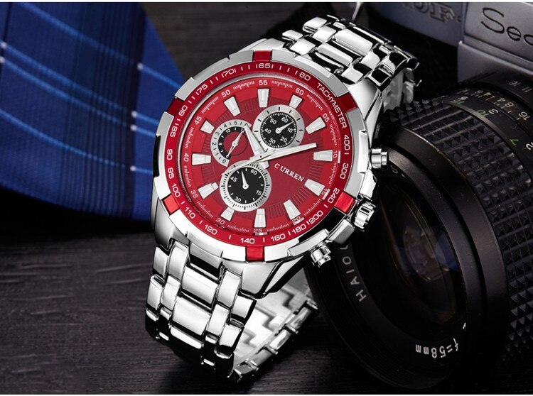 YSYH Watches Men  Luxury &Casual Quartz Male Wristwatches Classic Analog Sports Steel Band Clock Relojes