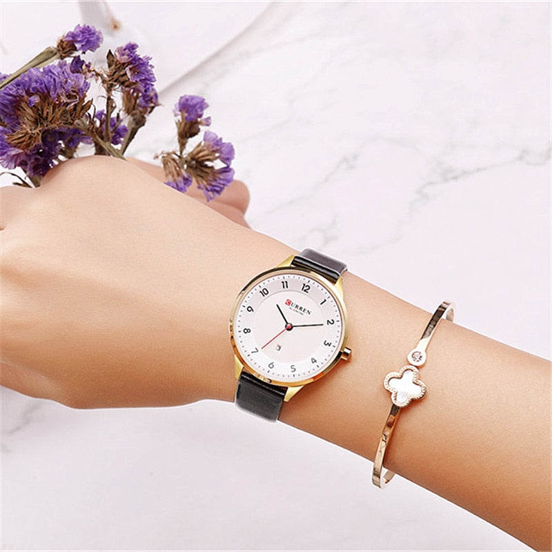 YSYH Date Quartz Women's Watch Ultra Thin Leather Ladies Dress Wristwatch Simple Digital Female Clock Reloj Mujer