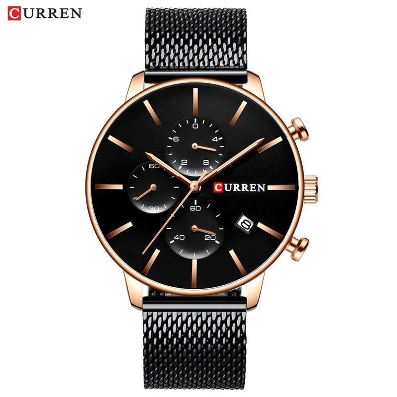 Mens Watches YSYH  Quartz Wristwatch for Men Classic Chronograph Clock Casual Sport  Watch Waterproof  Homem