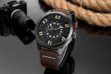 YSYH Luxury Brand Sports Wristwatch Display Date Men's Quartz Watch Leather Strap Waterproof Male Clock