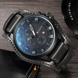 YSYH Watch Men Military Quartz Watch Luxury Leather Sports Wristwatch